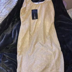 august glitter mini dress